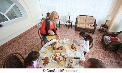 eten, gezin, samen