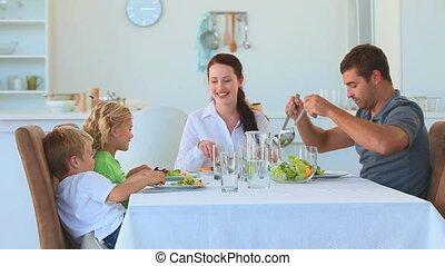 eten samen, gezin, kitch