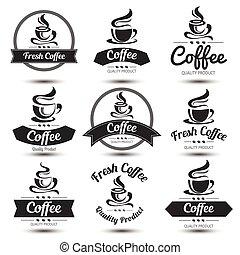 etiket, koffie