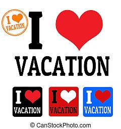 etiketten, liefde, vakantie, meldingsbord