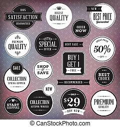 etiketten, set, luxe, kentekens