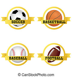 etiketten, sporten