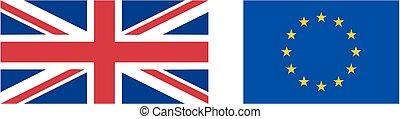eu, echte, vlag, proportie, uk