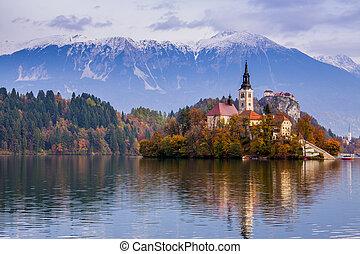 europa, bled, meer, slovenië