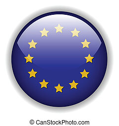 europa, vlag, vector, knoop