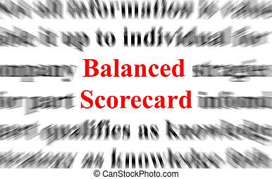 evenwichtig, scorecard