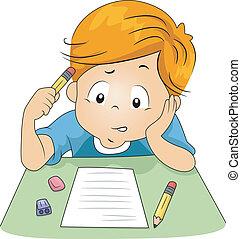 examen, geitje