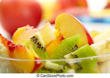 exotisch fruit, slaatje