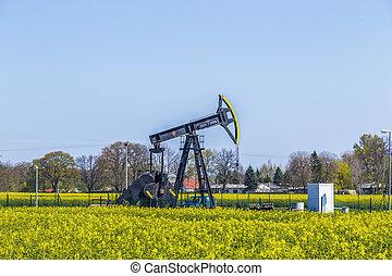 fabriekshal, olie, usedom, mineraal