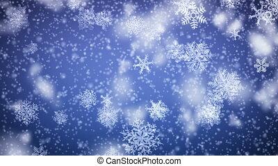 falling., 1080., looped, snowflakes, hd