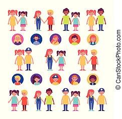 familiegroep, leden, karakters