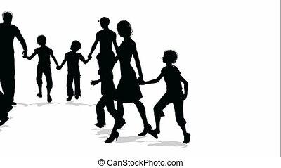 families, velen, silhouette