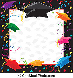 feestje, afgestudeerd, uitnodiging