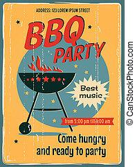 feestje, bbq, poster