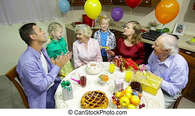 feestje, gezin