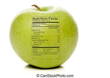 feiten, voeding, appel