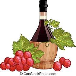 fiasco, wijn fles, italiaanse , rood