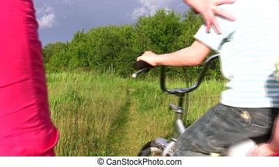 fiets, gezin