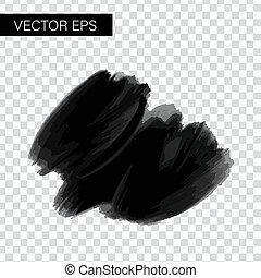 figured, inkt, borstel, vector, slagen