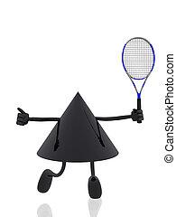 figuur, tennis, 3d