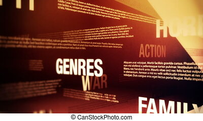 film, genres, verwant, woorden, lus