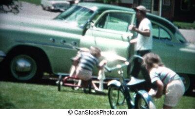 film), voertuigen, (8mm, gezin, poetsen