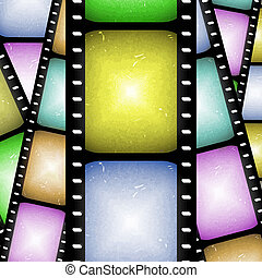 filmstrip, abstract