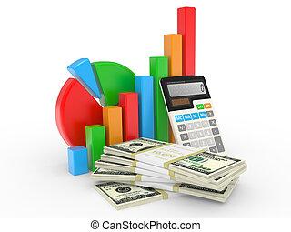 financieel, zakelijk, succes, het tonen, tabel, markt, liggen