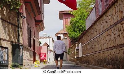 flag., nee, mensen., beeldmateriaal, turkey., turkse , days., lege, quarantaine, 4k, istanboel