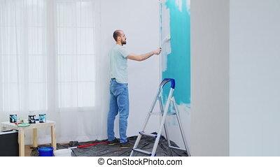 flat, muur, schilderij