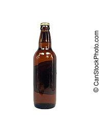 fles, bier, bruine