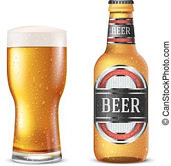 fles, bier