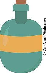 fles, illustratie, witte , blauwe , vector, achtergrond.