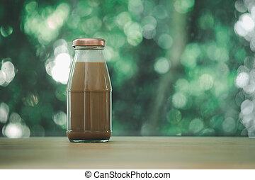 fles, melkchocolade