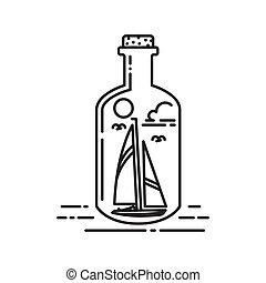 fles, scheeps