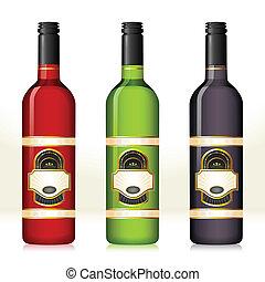 fles, wijntje