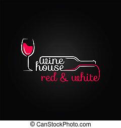 fles, woning, glas, ontwerp, achtergrond, wijntje