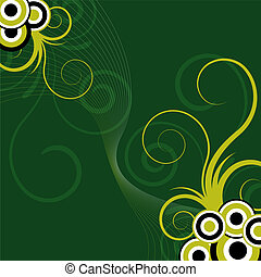 floral, abstract, groene achtergrond
