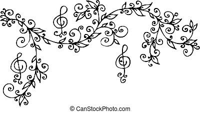 floral, ccci, muzikalisch, vignet