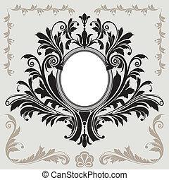 floral decoratie, frame