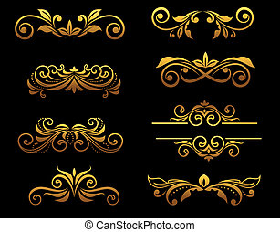 floral, gouden, randjes, communie, ouderwetse