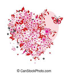 floral, hart gedaante