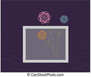 floral ontwerpen, begroetende kaart
