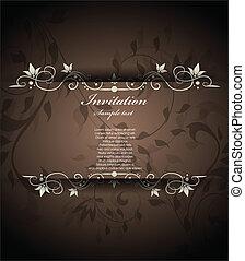 floral, ouderwetse , uitnodiging