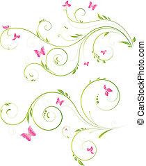 floral, rose bloemen, ontwerp