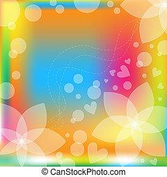 floral, vector, kleurrijke, achtergrond