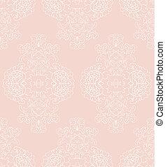 floral, vector, romantische, achtergrond
