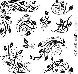 floral, vector, vastgesteld ontwerp, communie