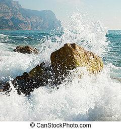 foam., zee, storm., golven