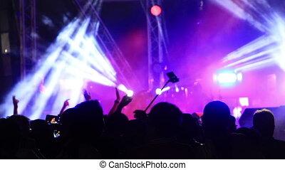 fonkelend, concert, schijnwerpers